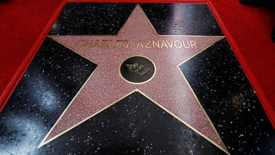 В93 года Шарль Азнавур дождался звезды наголливудской Аллее славы