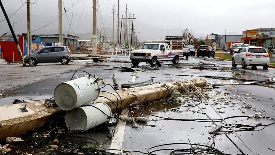 Циклон «Мария» обвалился наПуэрто-Рико