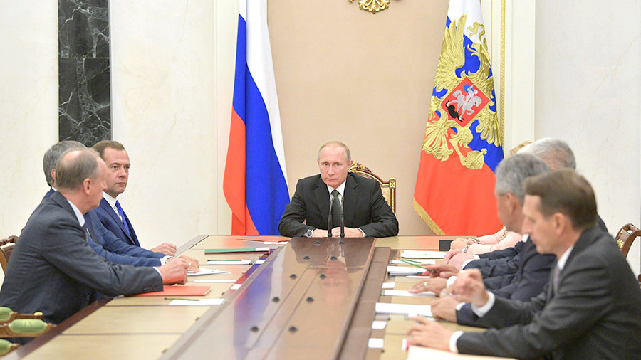 Путин обсудил сСовбезомРФ ситуацию вСирии инаКорейском полуострове