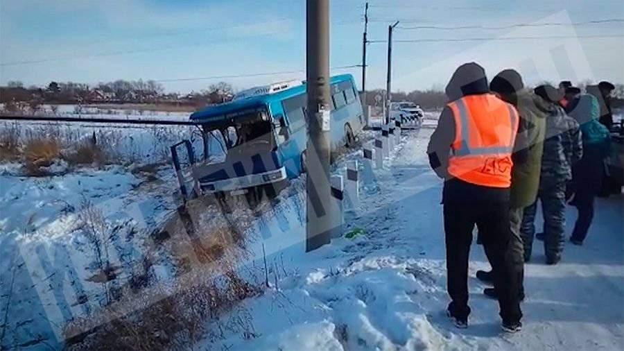 Поезд протаранил пассажирский автобус напереезде вЕАО