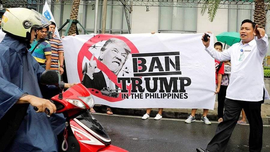 Протесты против визита Дональда Трампа проходят наФилиппинах