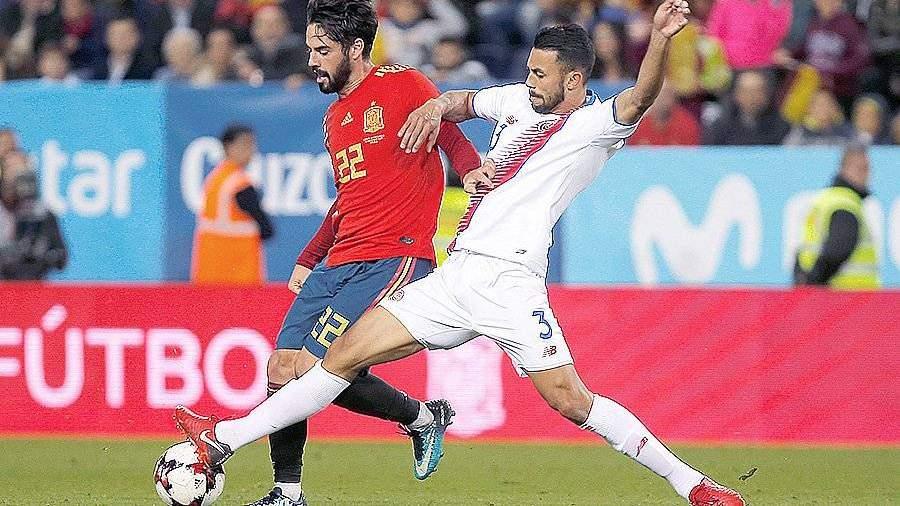 Сборная Испании разгромила Коста-Рику срезультатом  5:0