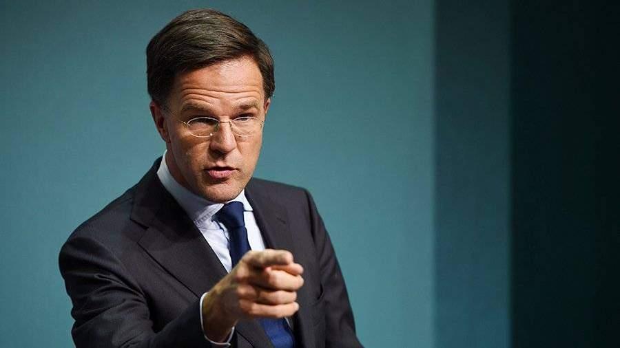 Премьер Нидерландов уверен впродлении антироссийских санкцийЕС