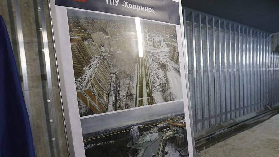 Соткрывшейся сегодня станции «Ховрино» запустили третий новогодний поезд