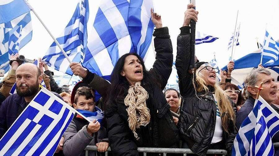 Анархисты пытались сорвать митинг националистов вгреческих Салониках