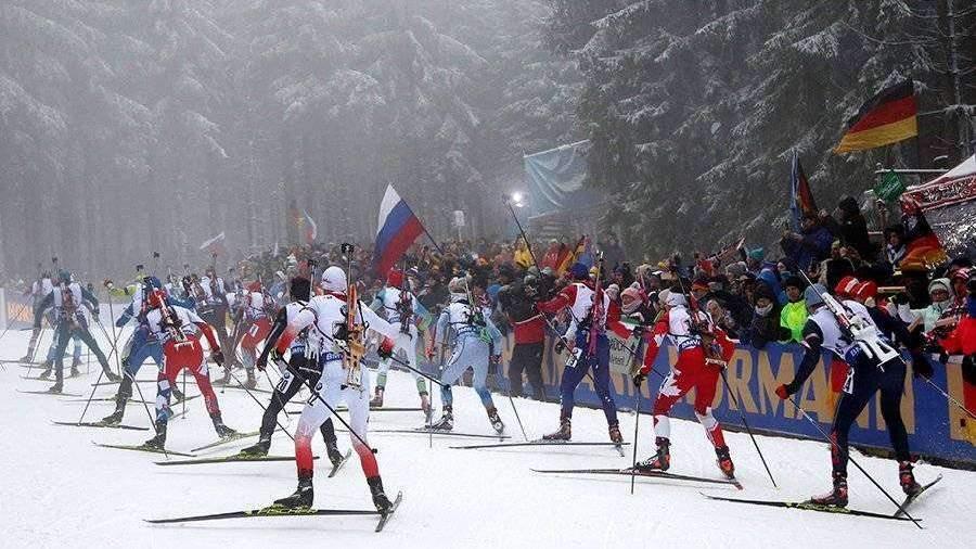 Русские биатлонисты стали четвертыми вэстафете наКМ вОберхофе