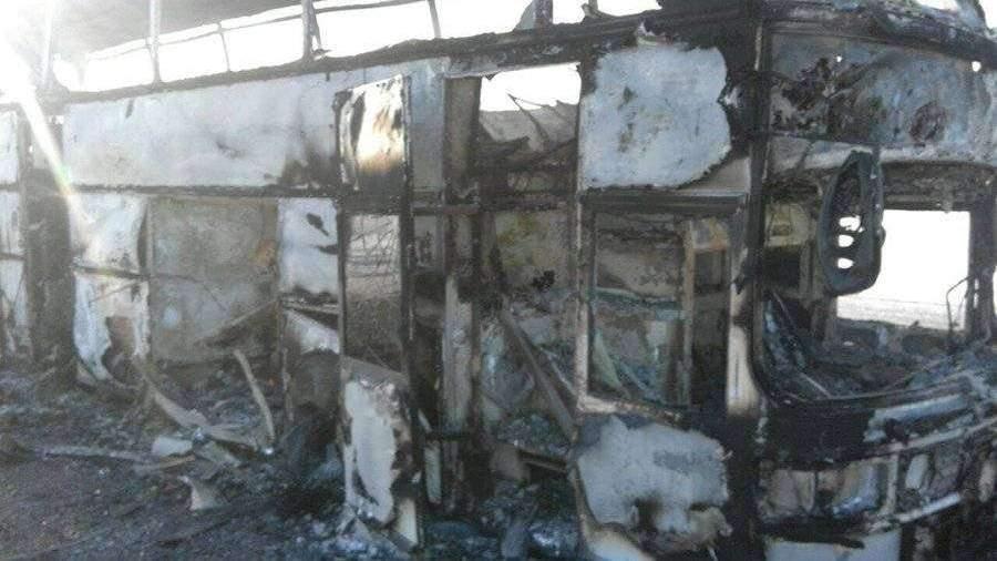 Владелец сгоревшего вКазахстане автобуса неимел лицензии нанерегулярные пассажирские транспортировки