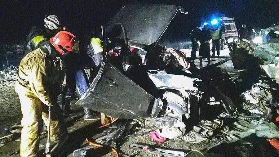 5 человек погибли вЗабайкалье при столкновении 2-х иномарок