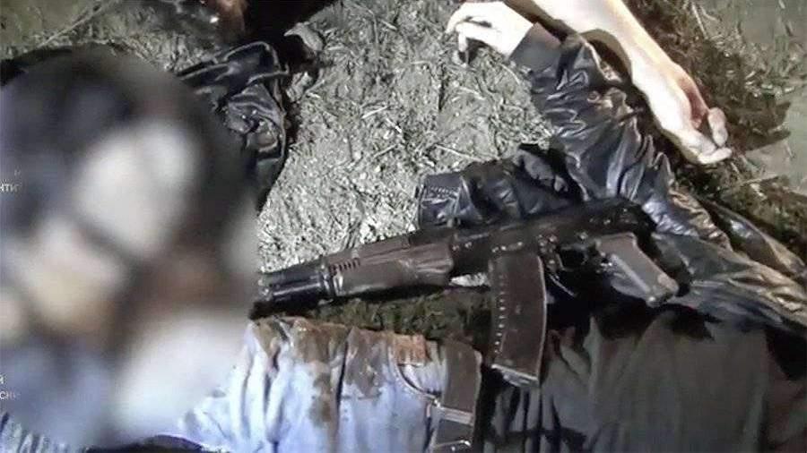Появилось видео с места ликвидации боевиков в Дагестане