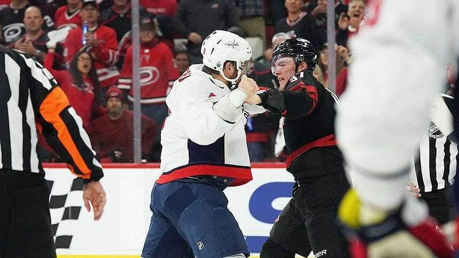 Овечкин подрался с россиянином Свечниковым в матче плей-офф НХЛ