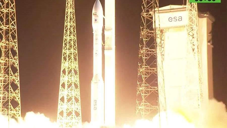 Появилось видео неудачного пуска ракеты-носителя Vega с космодрома Куру