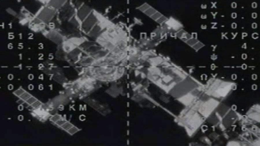 Появилось видео стыковки «Союза МС-14» с роботом «Федор» с МКС