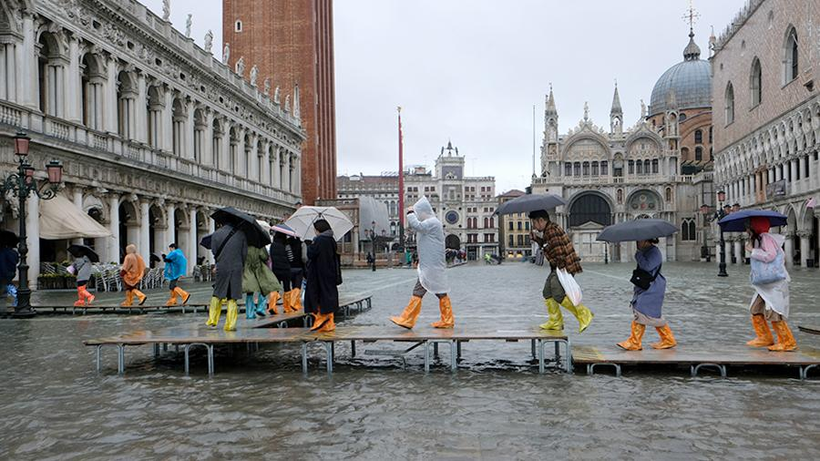 Центр Венеции затоплен из-за дождя