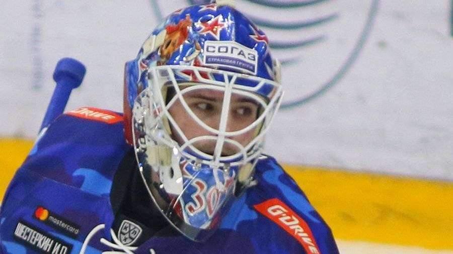 Российский вратарь Шестеркин признан звездой матча НХЛ