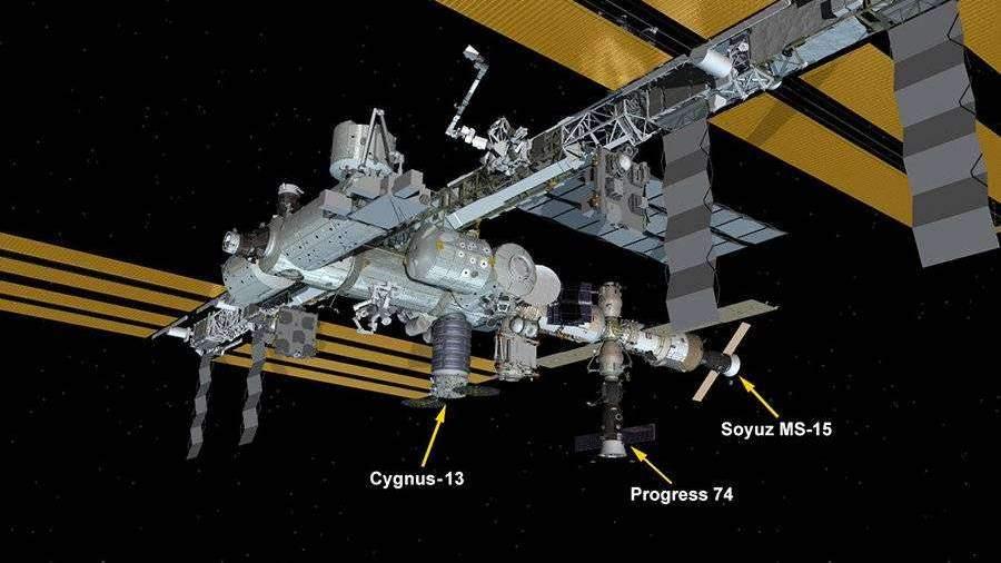 NASA сообщило о стыковке космического грузовика Cygnus с МКС
