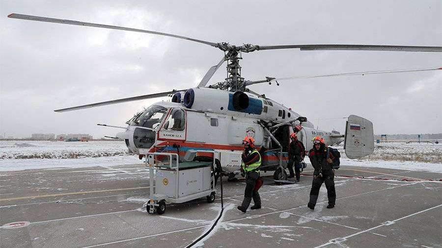 Вертолет эвакуировал пострадавшую в аварии с маршруткой в Москве