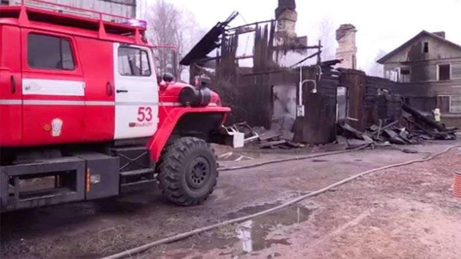 Власти Ленобласти назвали предположительную причину пожара в Выборге