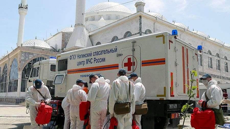 МЧС направила новых специалистов в Дагестан для работ по дезинфекции