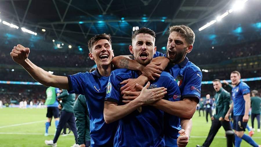 Италия обыграла Испанию и вышла в финал Евро-2020 | Новости | Известия |  07.07.2021
