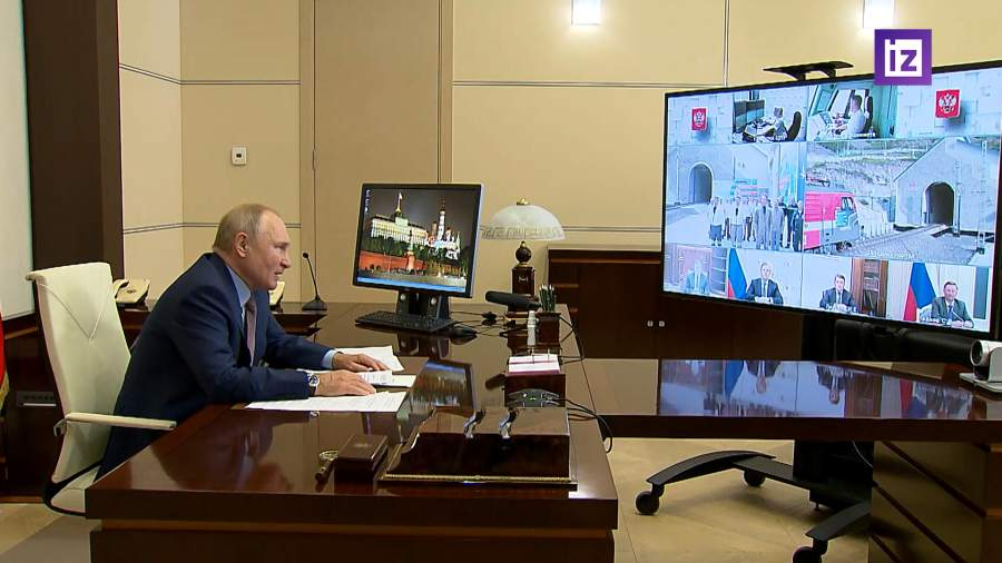 Путин дал старт движению по второму Байкальскому тоннелю