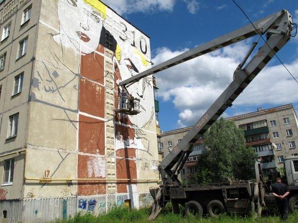 На скуле Маяковского воздвигли кондиционер