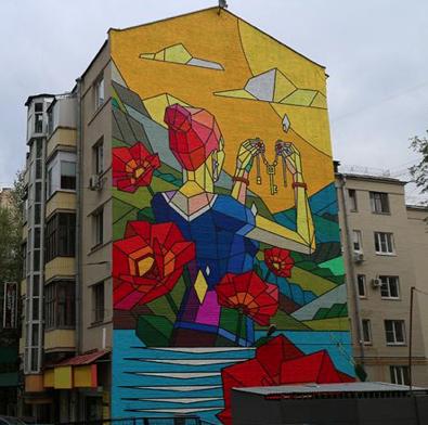 Присоединение Крыма увековечат на торцах жилых домов