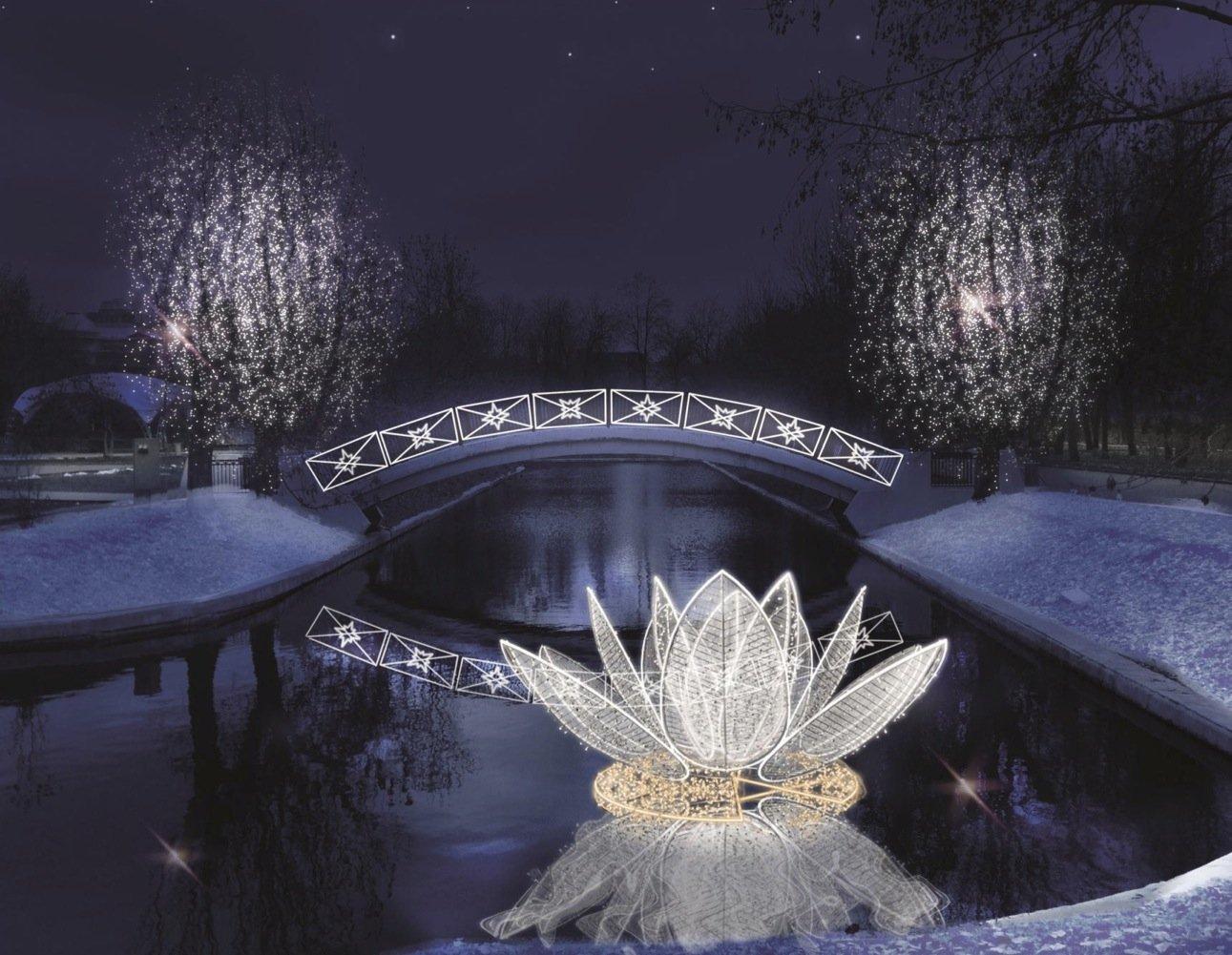 В столичных парках появятся световые качели и неоновые эльфы
