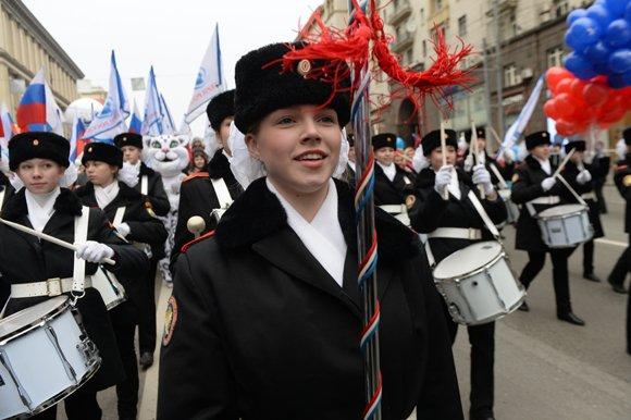 В Москве 85 тысяч человек вышли на шествие в День народного единства