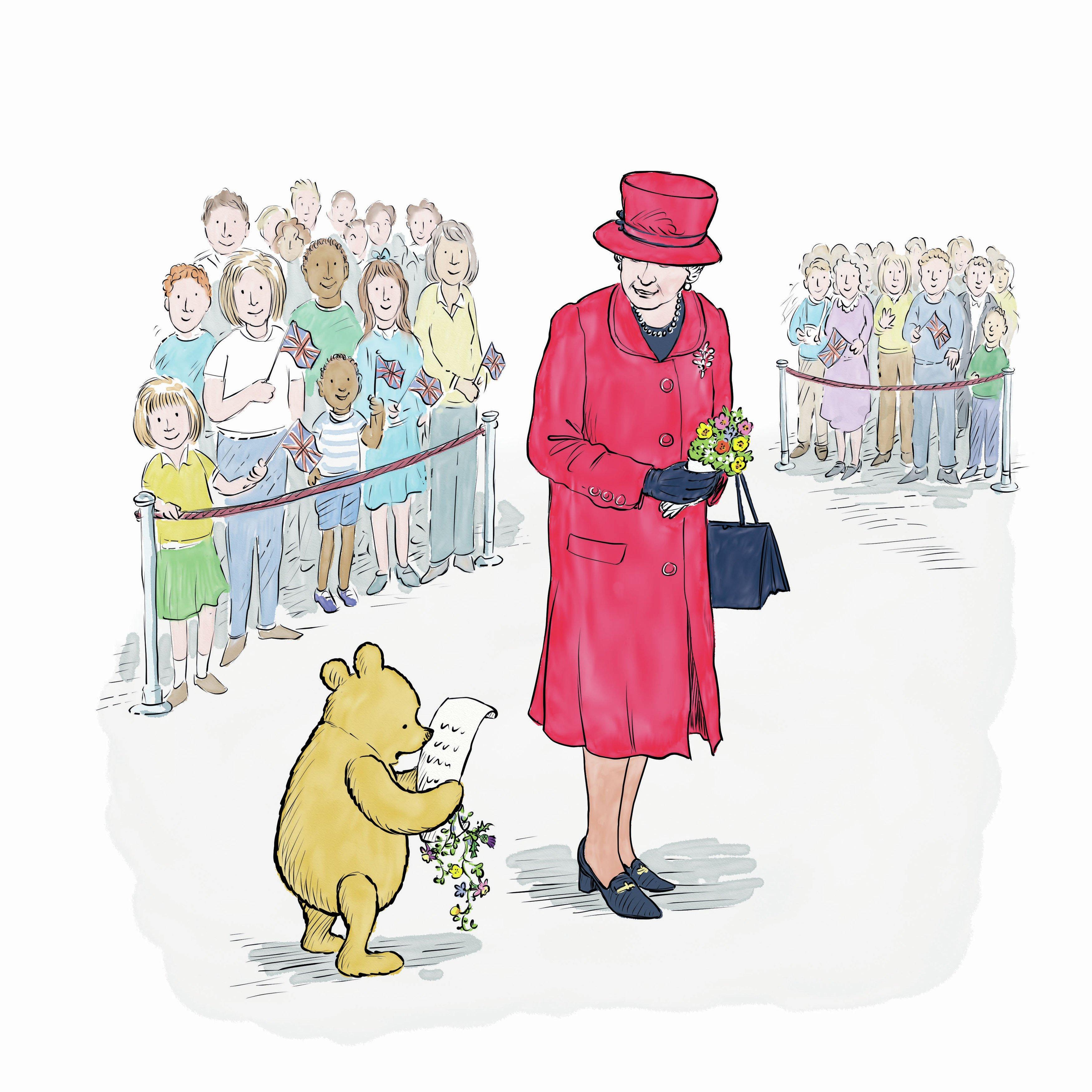 В Великобритании вышла книга к 90-летию Винни-Пуха и Елизаветы II