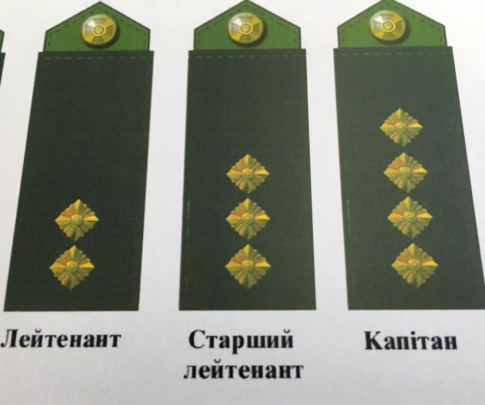Звезды на погонах украинских военных заменят ромбами