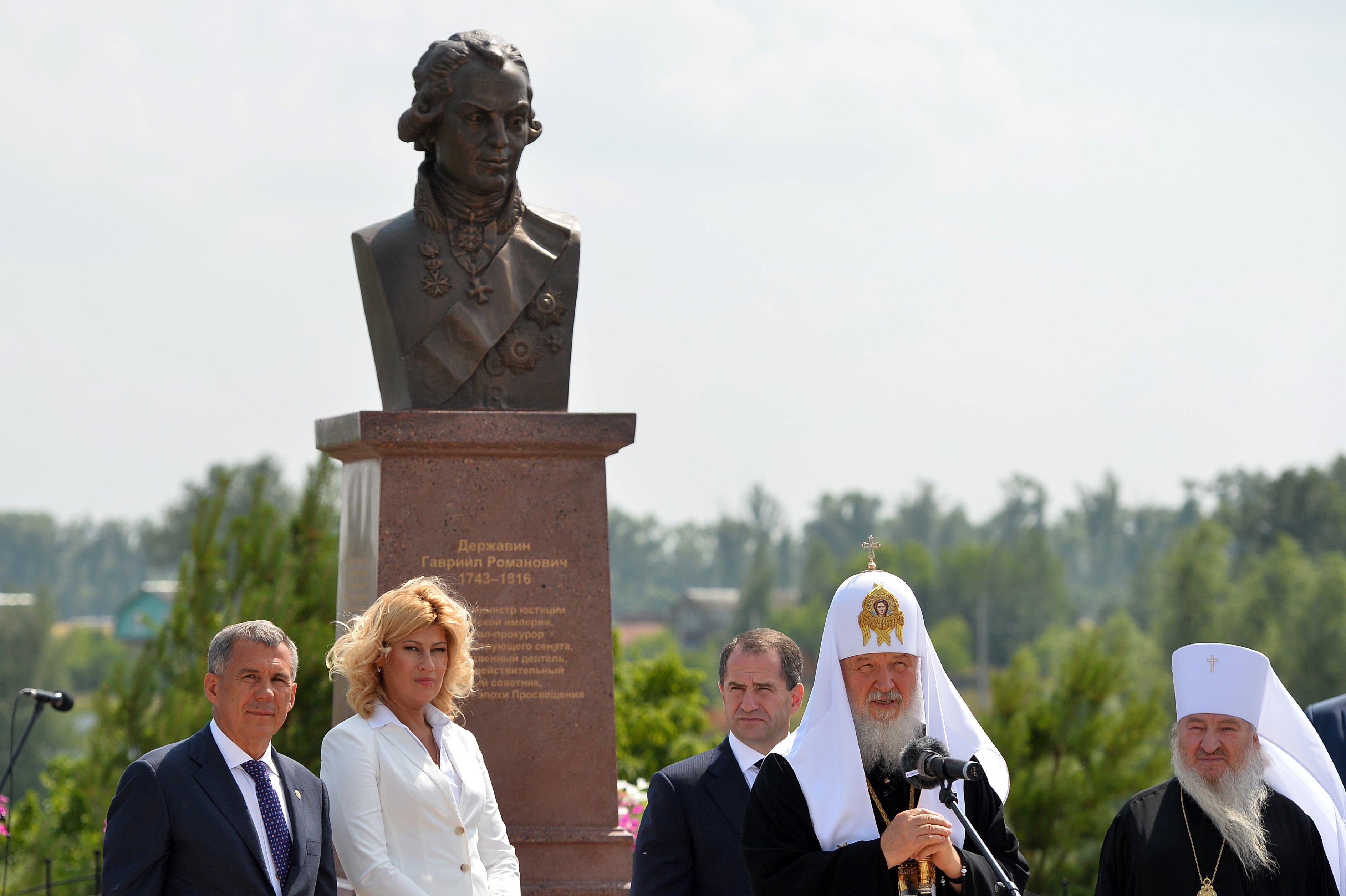 В Татарстане установили памятник Державину