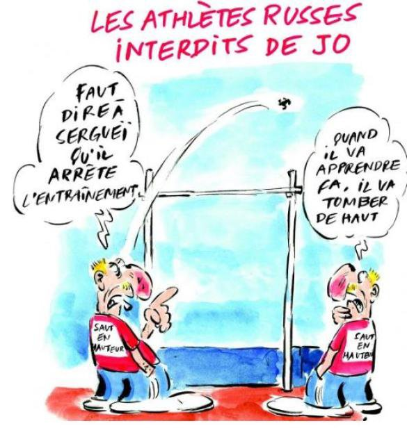 Charlie Hebdo выпустил карикатуру на российских атлетов