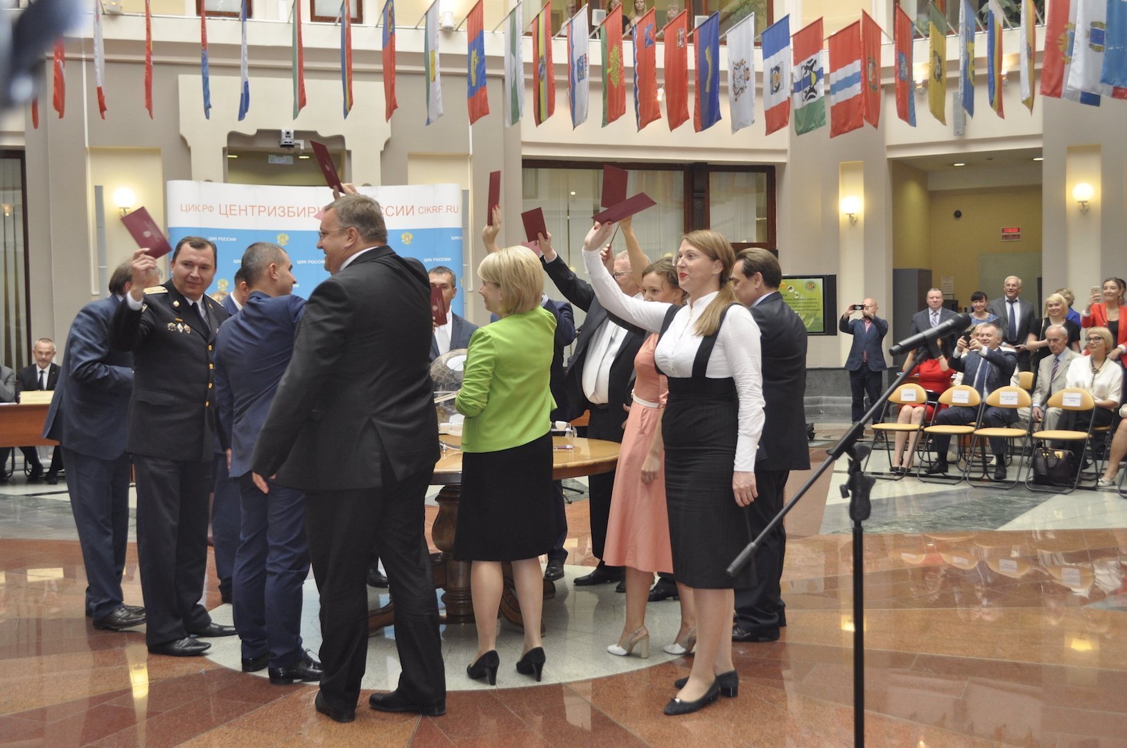 Жеребьевка мест партий в бюллетенях прошла в неофициальном формате