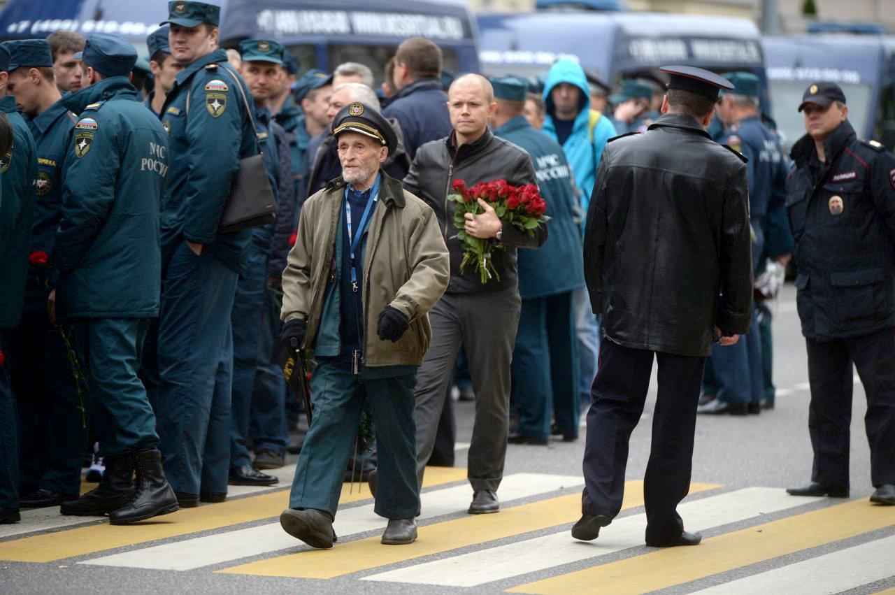 В Москве прощаются с погибшими пожарными