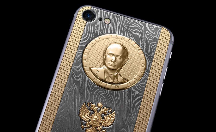 Ко дню рождения Владимира Путина выпустили iPhone с его барельефом
