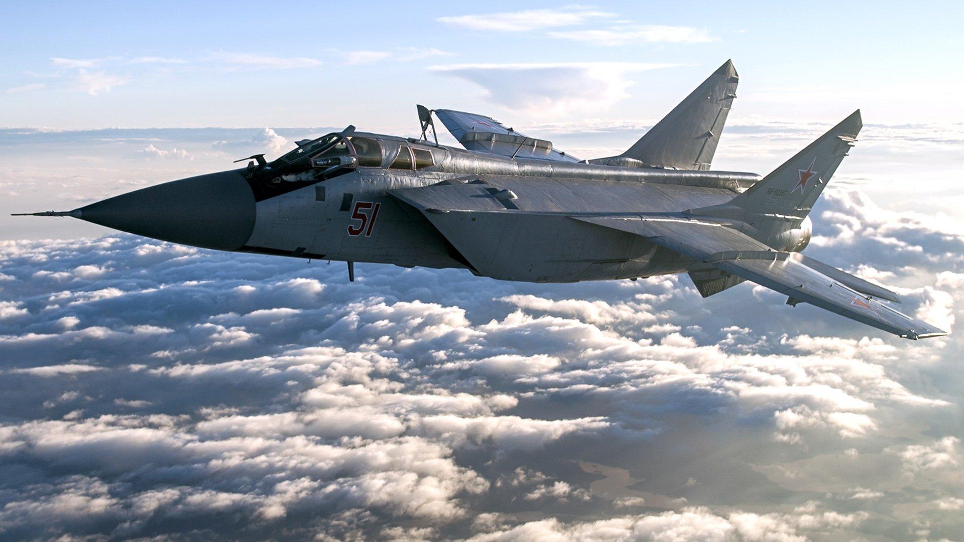 Обои ввс, миг-31, перехватчик, россии, истребитель, Самолёт. Авиация foto 17
