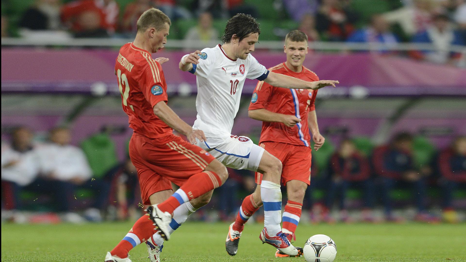 Матч Россия - Чехия на чемпионате Европы 2012