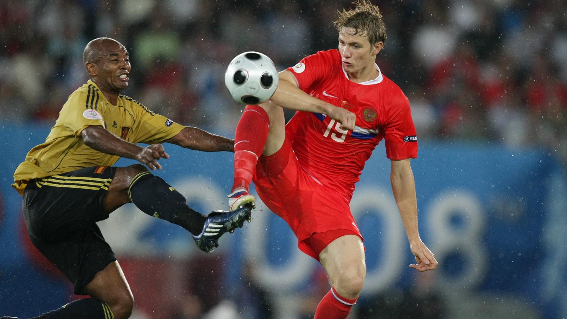 матч Россия - Испания на чемпионате Европы 2008