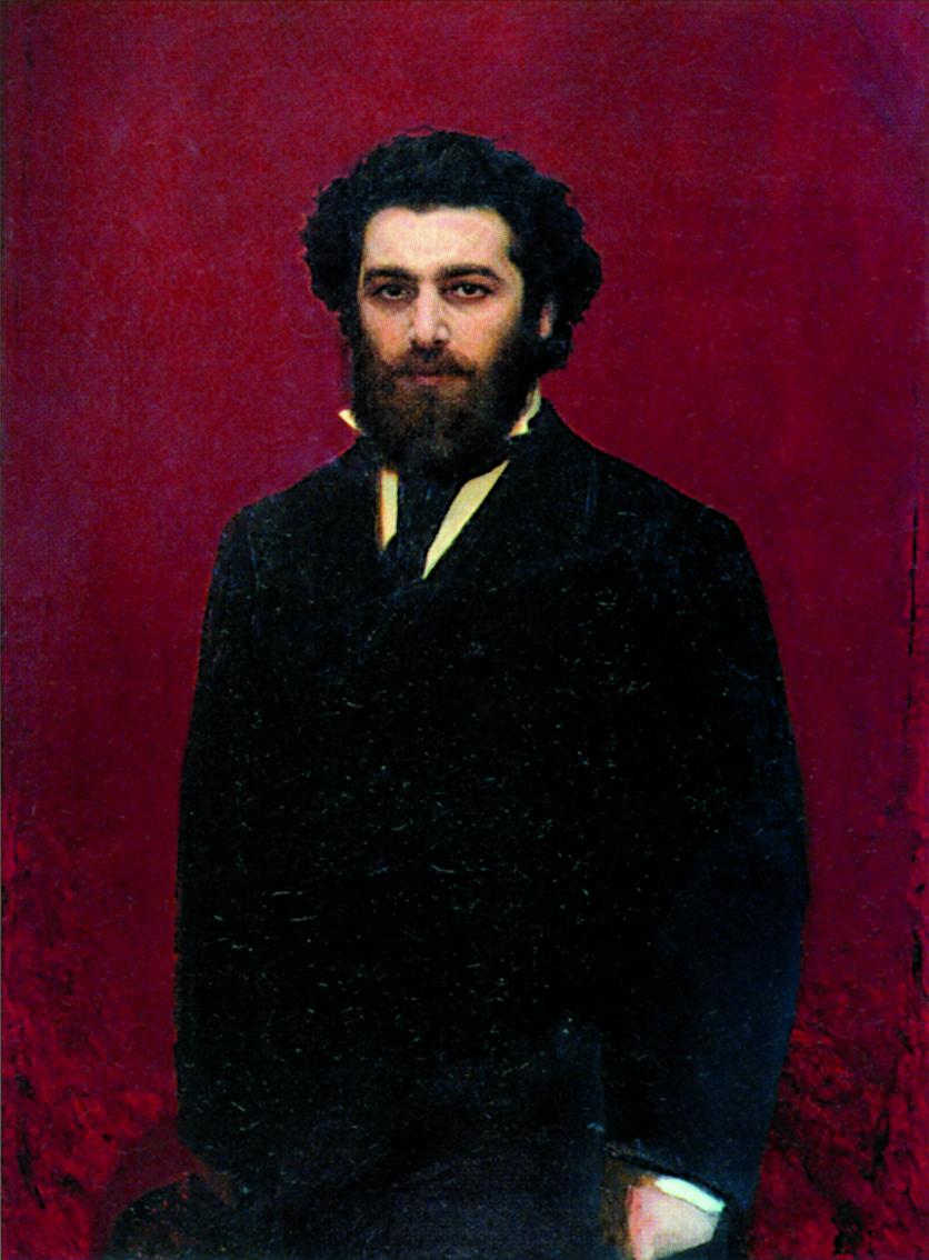 Портрет А. И. Куинджи - художник И. Крамской