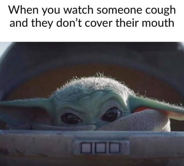 Мем про коронавирус с малышом Йодой