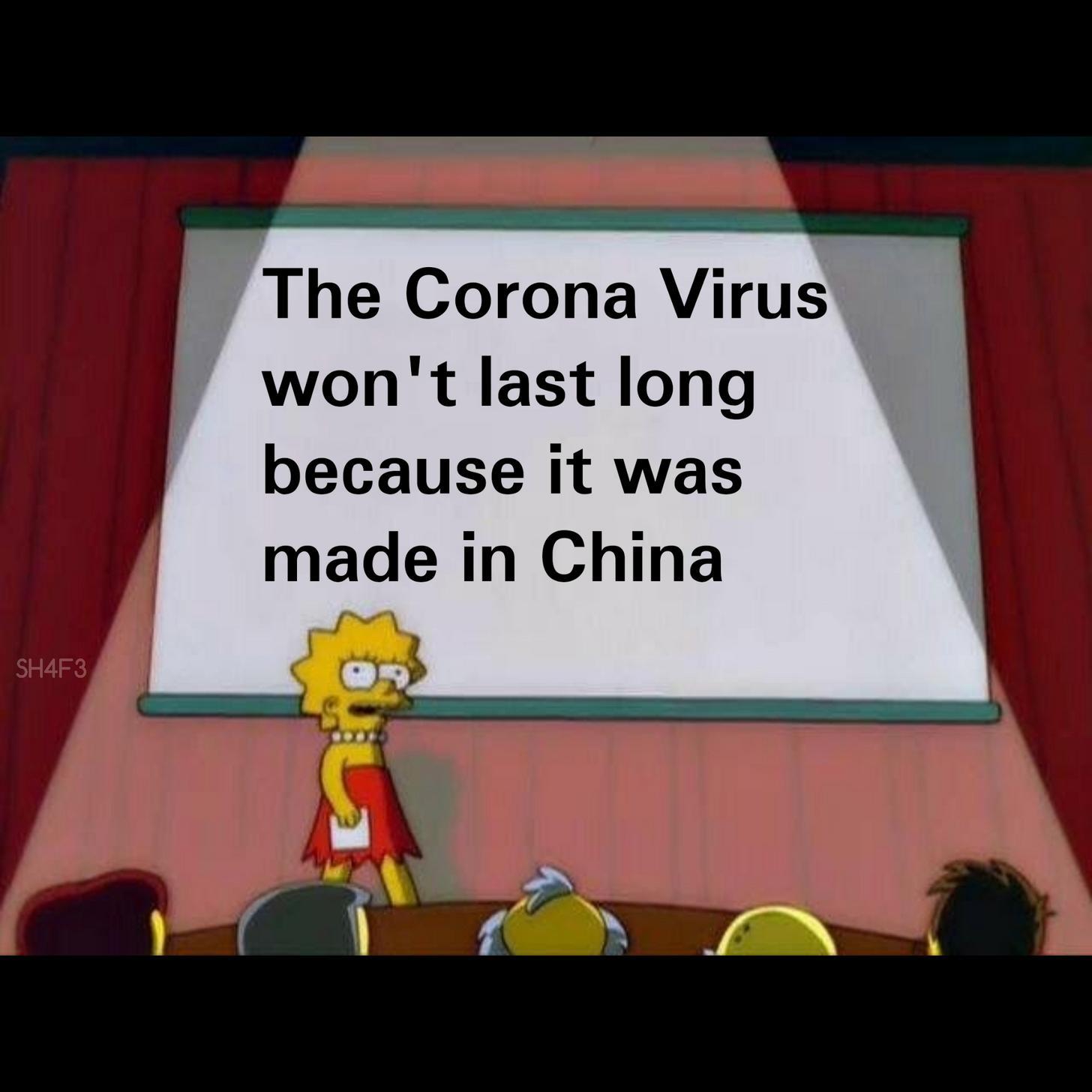 Мем про коронавирус с Лизой Симпсон
