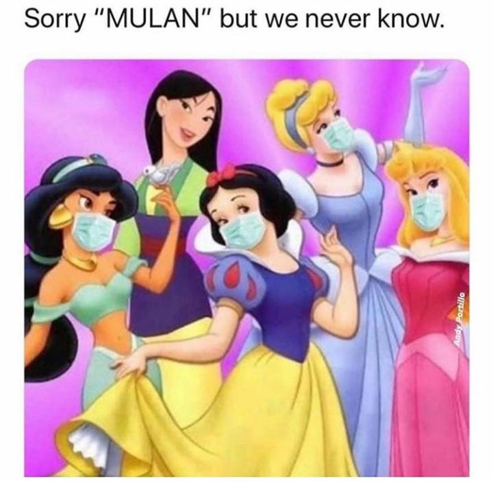 Мем про коронавирус с принцессами Disney