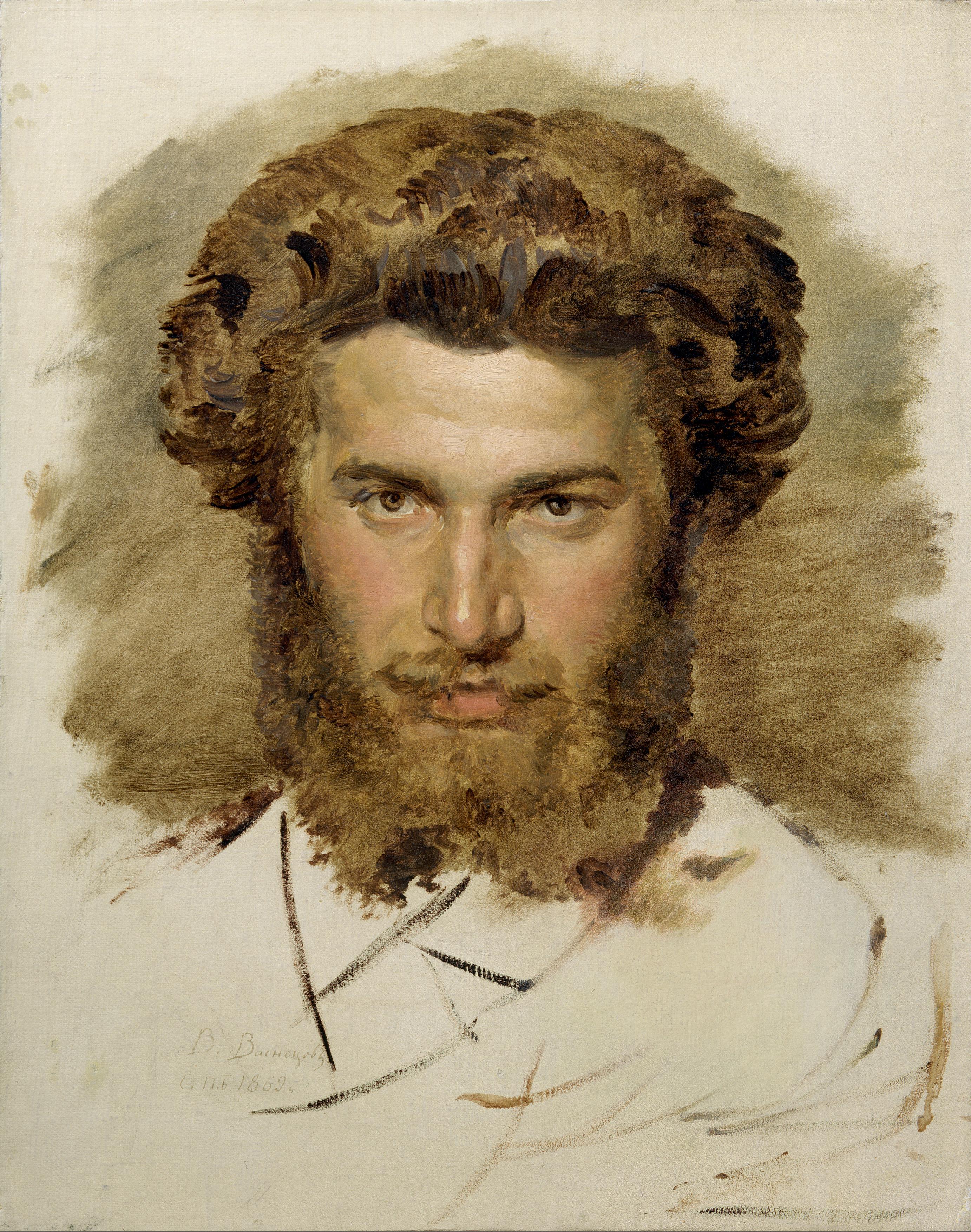 Портрет А. И. Куинджи - художник В. М. Васнецов.