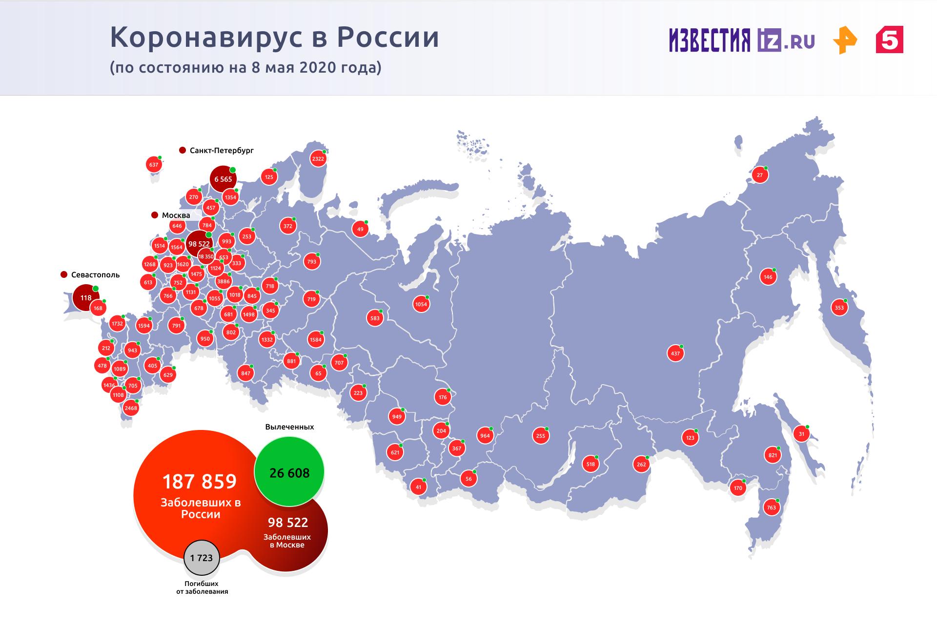 Число выявленных случаев COVID-19 в Приморье превысило 800 человек