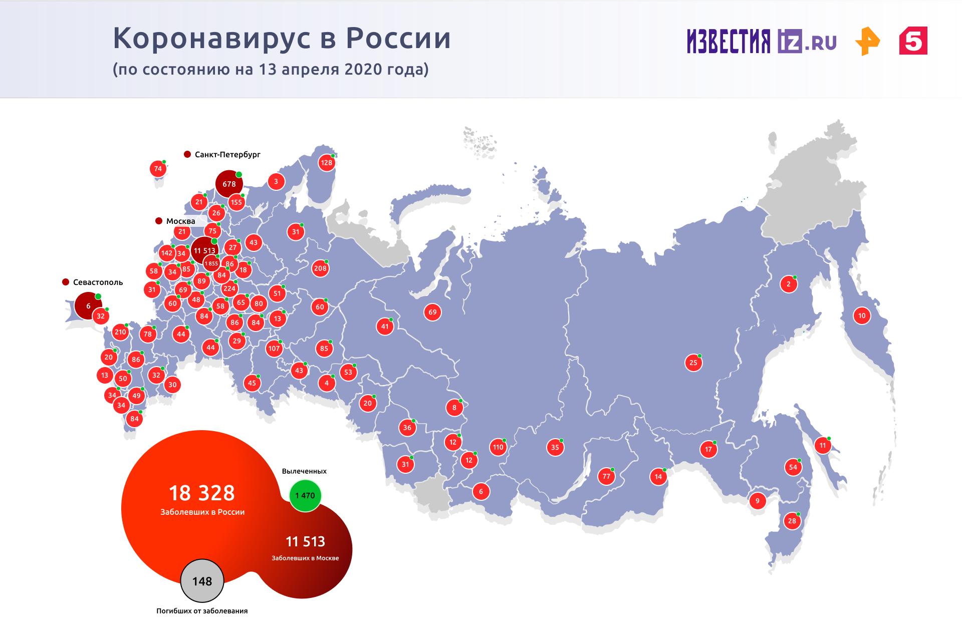 В Москве скончались еще 13 пациентов с коронавирусом