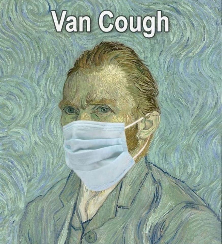 Мем про коронавирус с Ван Гогом