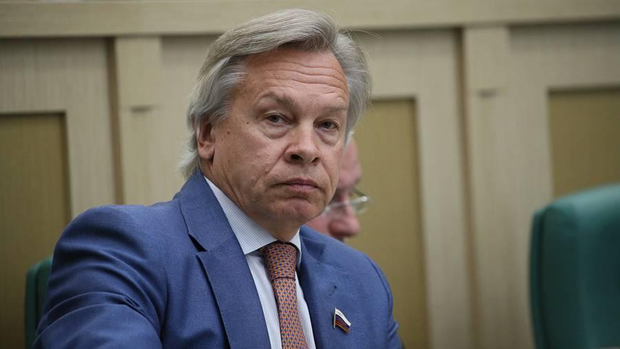 Пушков оценил вопрос журналистки CNBC Путину о поставках газа в Европу0