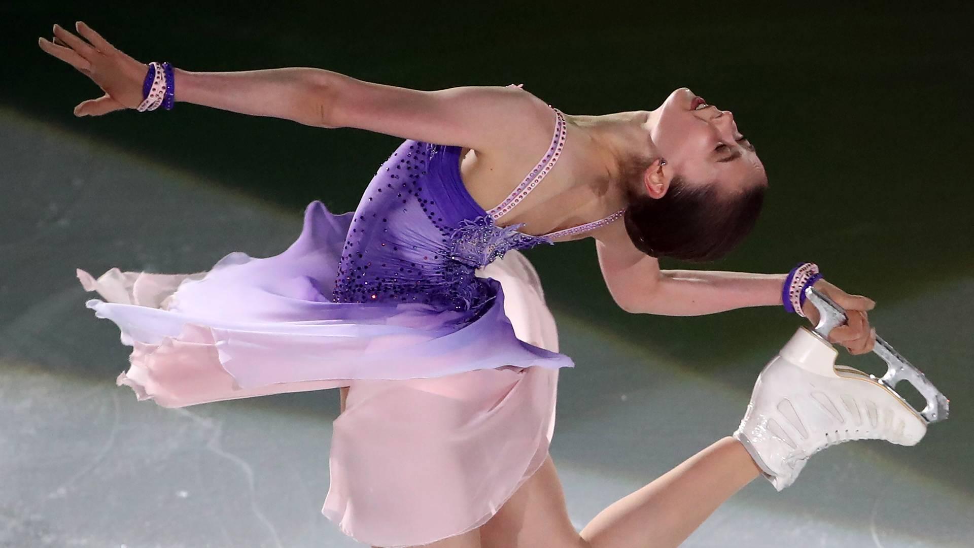 Фигуристка Валиева побила мировой рекорд по сумме двух программ0