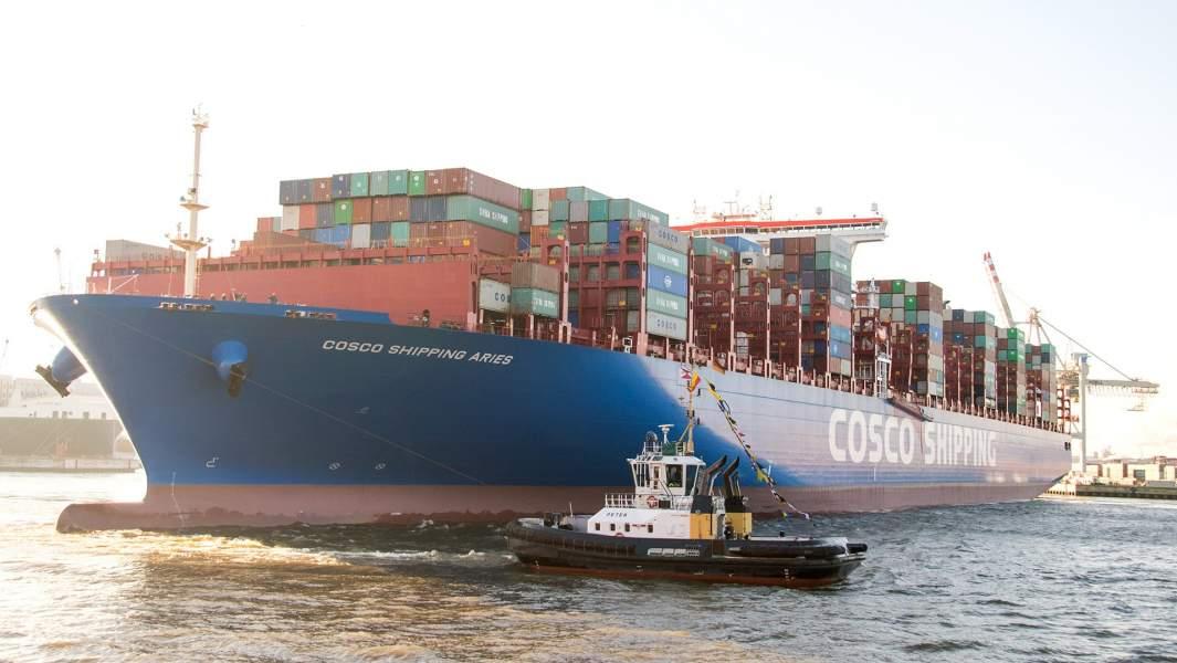 Грузовое судно «Cosco Shipping Aries»