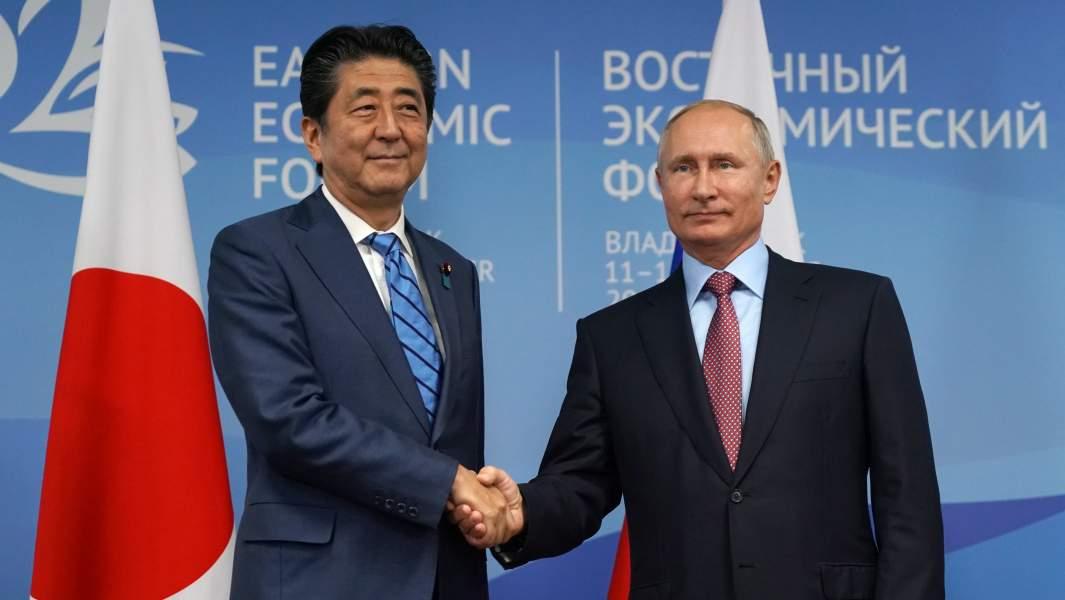 президент РФ Владимира Путина и премьер-министр Японии Синдзо Абэ
